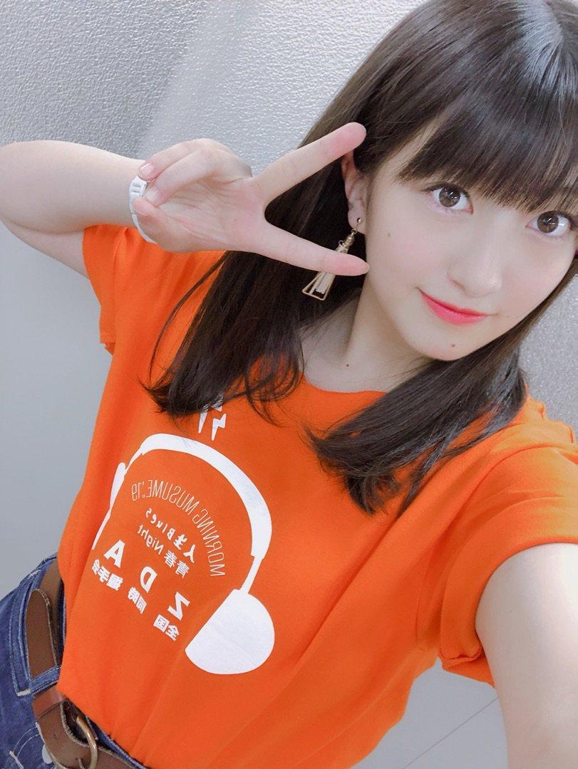 【12期 Blog】 オレンジになりました︎☺︎羽賀朱音:…  #morningmusume19