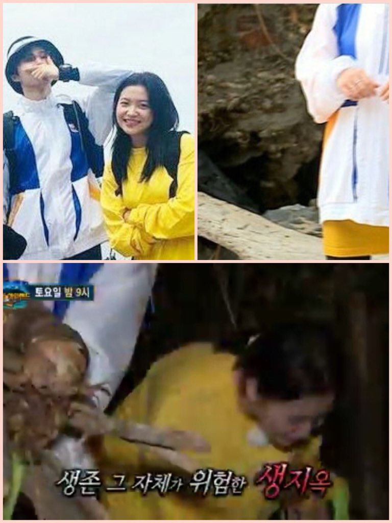 Kim Han Bin is not a bad guy. When i saw law of jungle i really like the moment between han bin and yeri. In this picture, i think when they go through the river by boat. The weather may be getting colder so han bin gave his jacket to yeri. BI is take care his little sister #Ikon <br>http://pic.twitter.com/cvujnLPedc