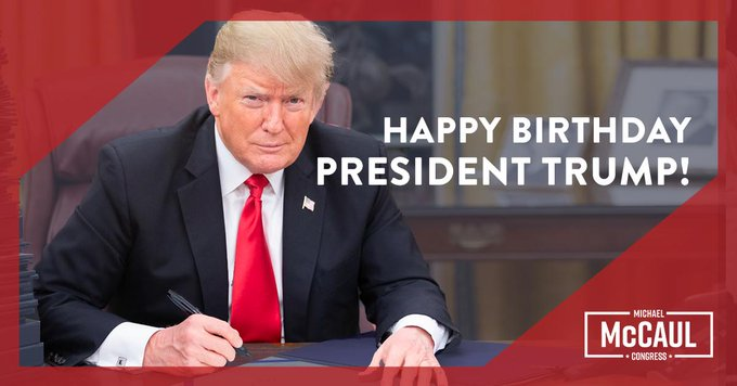 Happy Birthday Donald Trump from We thank you for your hard work to Make America Great Again!