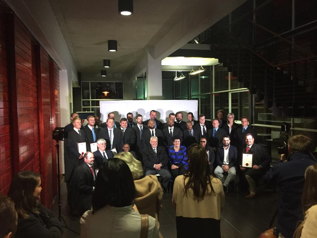 8 #FS #farmers were part of 2019 class at @SyngentaSA #grainacademy #graduation ceremony. Among them Nelius Ferreira, #FSA Young Farmer of Year 2018. Congrats to all graduates! In total 150 young leaders have completed it. @GrainSA @jack_armour @SENWES @gwkgroup @vkblandbou https://t.co/BmuxBDoLRQ