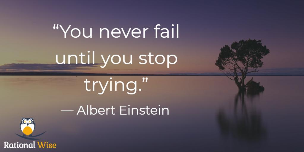 """You never fail until you stop trying."" — Albert Einstein #FridayMotivation #PersonalDevelopment <br>http://pic.twitter.com/sniNE8odrC"
