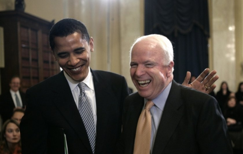 On #JohnMcCainDay, I remember when Democrats and Republicans could be DECENT to each other.  That time John McCain corrected one of his supporters, and spoke up for Obama, told me all I needed to know about him.  Happy Birthday Mr. President Obama! Enjoy #JohnMcCainDay! https://t.co/KpmKvFjLFJ
