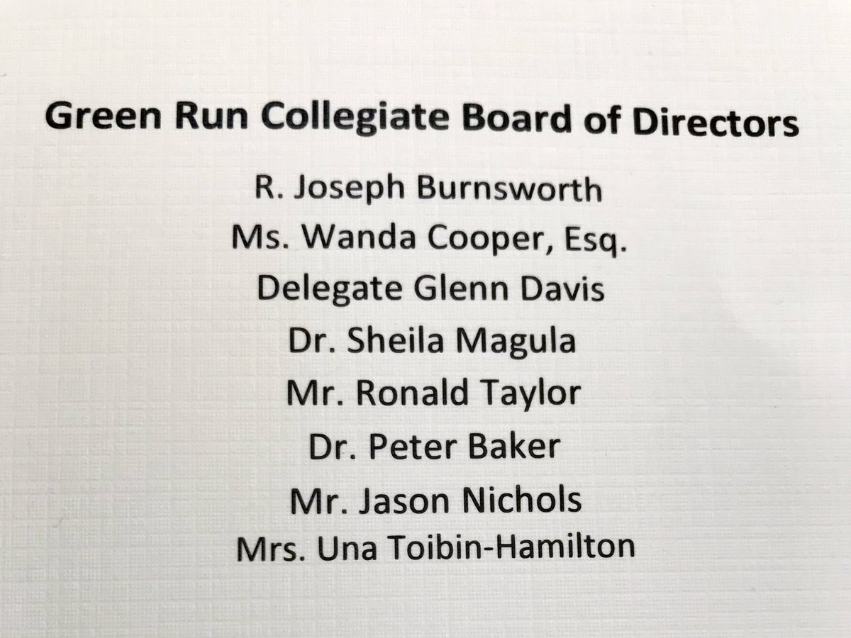 Thank you to the volunteers GRC Governing and Foundation Board members for their continual and tireless support of this amazing school. @RunCollegiate @grcollegiate @GRC_PTSA @BeachSupe @Pharrell