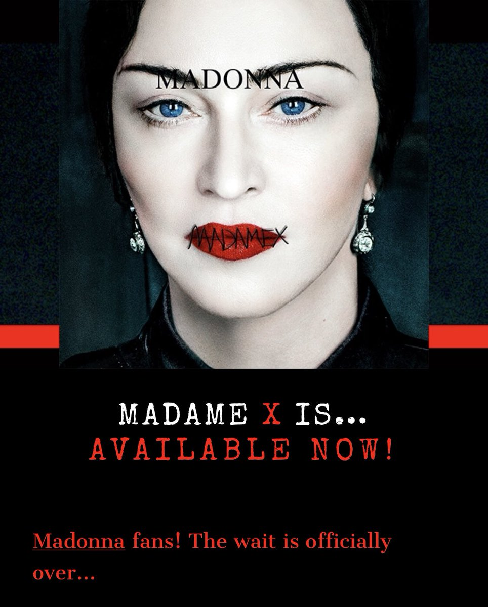 @Madonna I've loved your art, virtually, my whole life. And, true love lasts a lifetime. This is some brilliant shit. #madameX  #albumoftheyear <br>http://pic.twitter.com/0rZBKBD9AZ