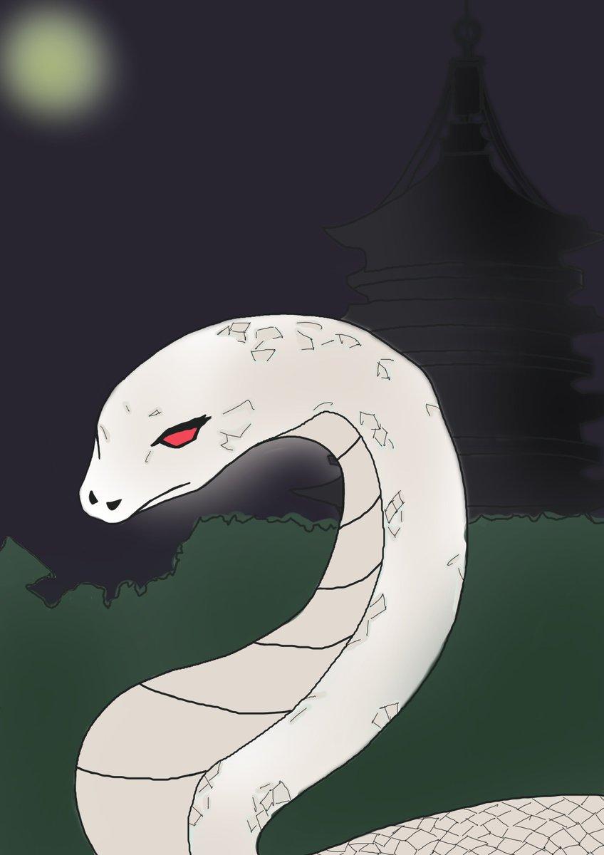 ✏白蛇伝(^^♪ #絵描きさんと繋がりたい
