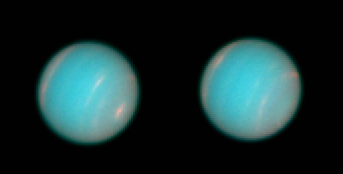 Today in 1995, these high-resolution images of Neptune taken by @NASAHubble were released. Though we cant see Neptune with the naked eye, we can view the space-based telescope unaided. Hubble will be visible tomorrow morning at 5:02 AM EDT from Washington, DC.