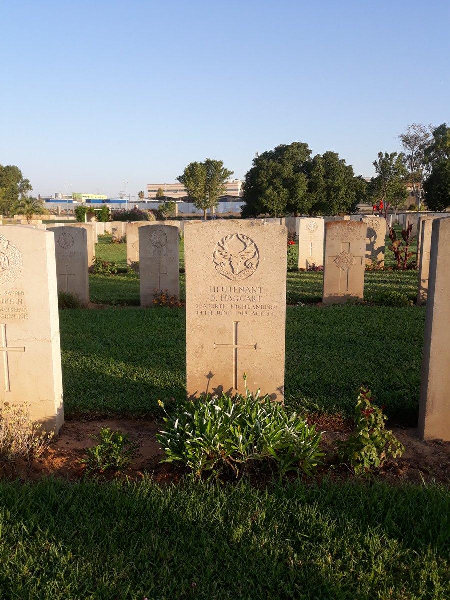 Remembered today Lieutenant Haggart lies buried in #Ramleh war cemetery #LestWeForget <br>http://pic.twitter.com/2J6NWOWqVM
