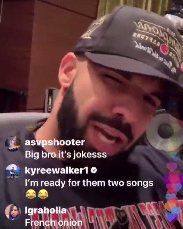 Drizzy got jokes ☠️ (via @Drake)