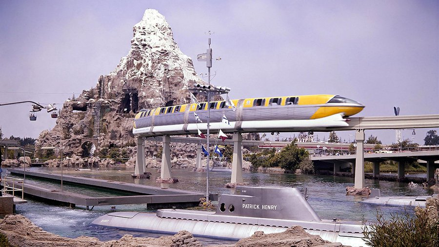 Disney Monorail, Matterhorn Bobsleds, And Submarine Voyage in 1959