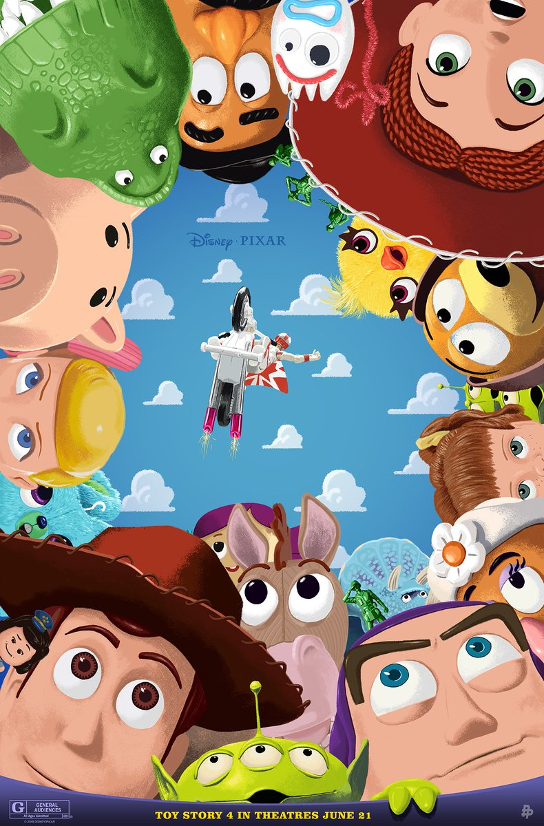 Check out these brand-new #ToyStory4 inspired posters by artists @Doaly, @S2lart, and @a_swainson.