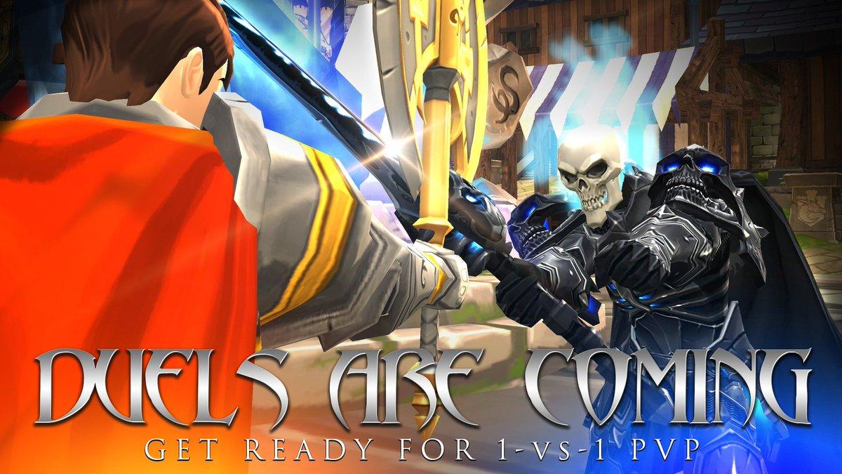 1 vs 1 Duels coming next week in AdventureQuest 3D! https://aq3d com