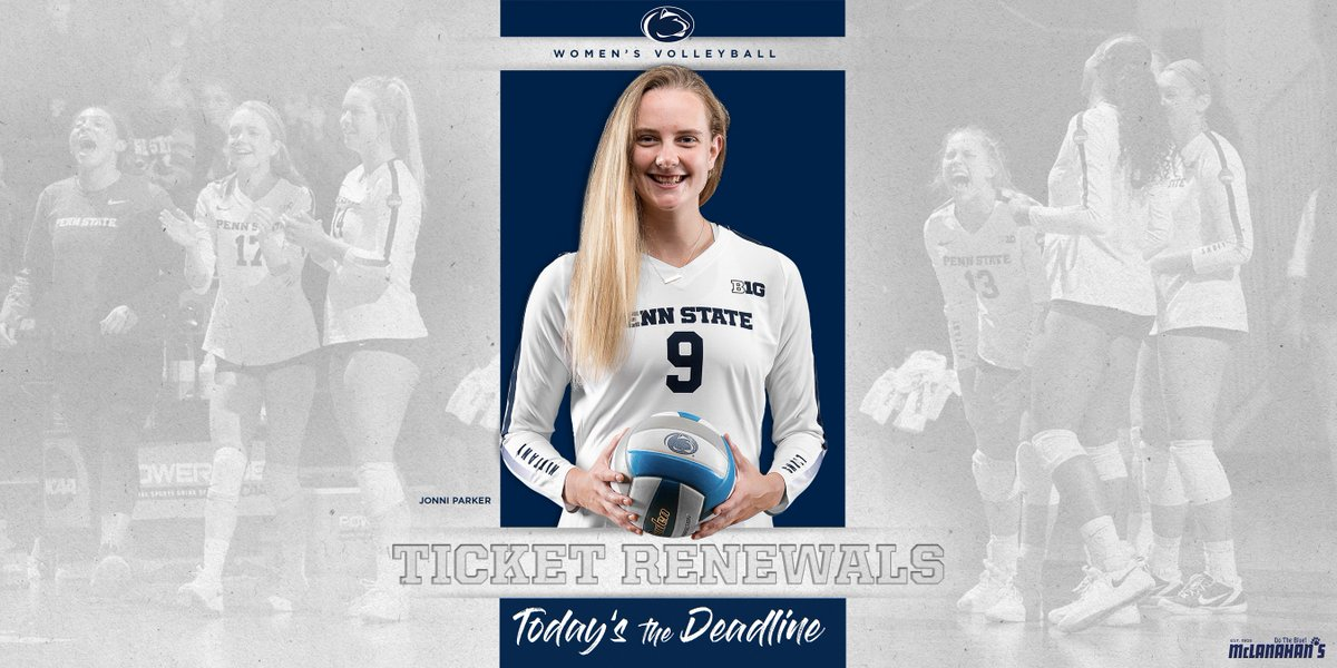 Today is the deadline to renew your season tickets!!! 🔗 am.ticketmaster.com/pennstate/invo…