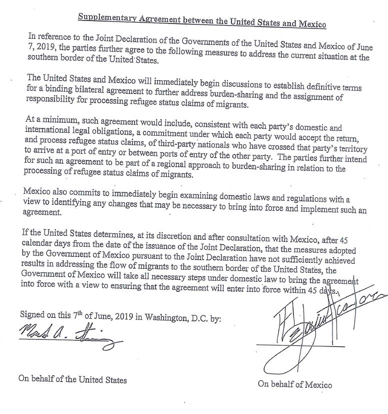 Well, Mexico just released the full page that @realDonaldTrump carried when he said there was a secret agreement