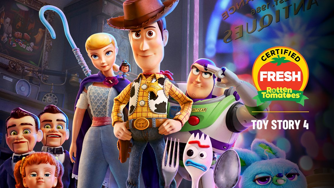 #ToyStory4 is now #CertifiedFresh at 100% on the #Tomatometer, with 82 reviews: https://www.rottentomatoes.com/m/toy_story_4?cmp=TWRT_Movie_ToyStory4_CF…