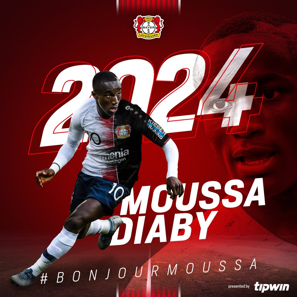0f6c0ef7bd2 TRANSFER NEWS ouss Moussa Diaby joins the Werkself from PSG on a five-year  contract! He'll wear number 19! #BonjourMoussa