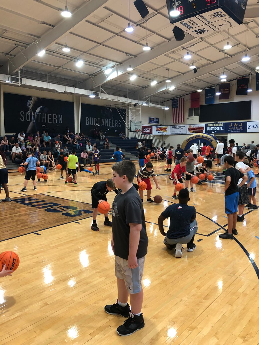 Our campers are putting on a great dribbling show this morning!