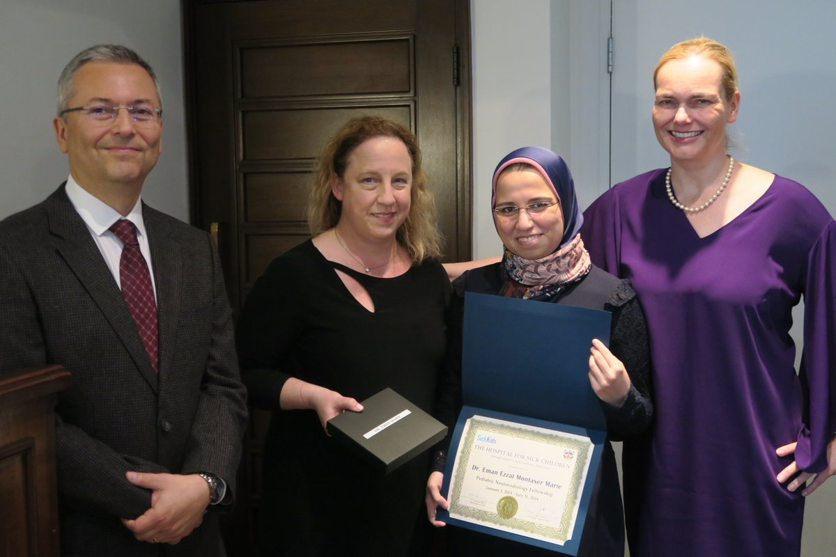 Our graduating pediatric neuroradiology fellow, Dr Eman Marie