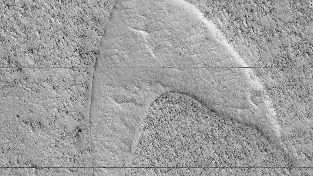 They found a Star Trek symbol on Mars.  https://buff.ly/2F5jsqj