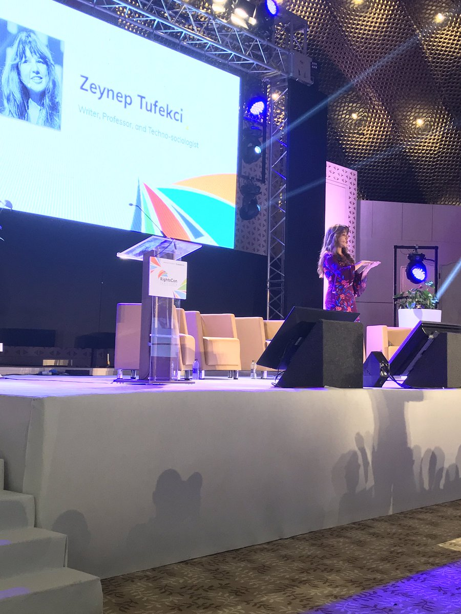 """Digital rights, privacy rights, access rights, these are not optional rights"" - @zeynep wrapping up #RightsCon by talking about where we've been and what's next"