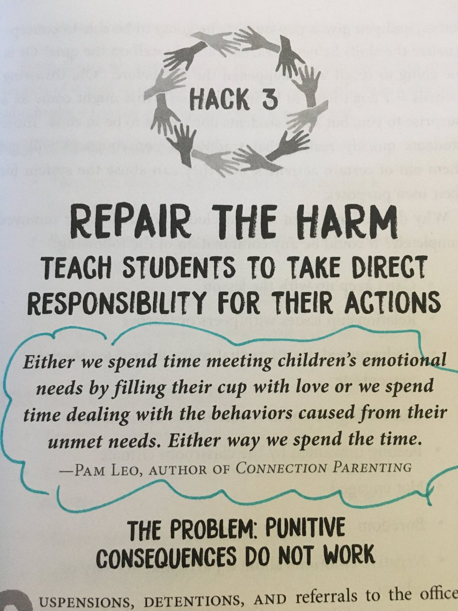 Don't you love it when a book speaks to you AND makes sense?! #HackingSchoolDiscipline