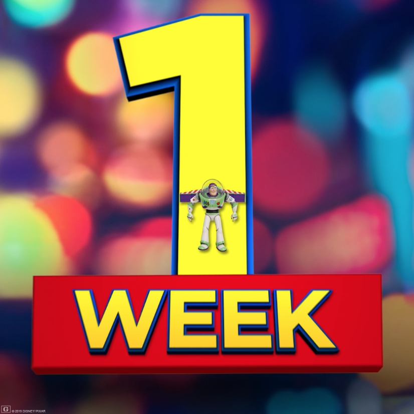 #ToyStory4 comes to theaters in just 1 week! Get your tickets now! http://bit.ly/ToyStoryTix