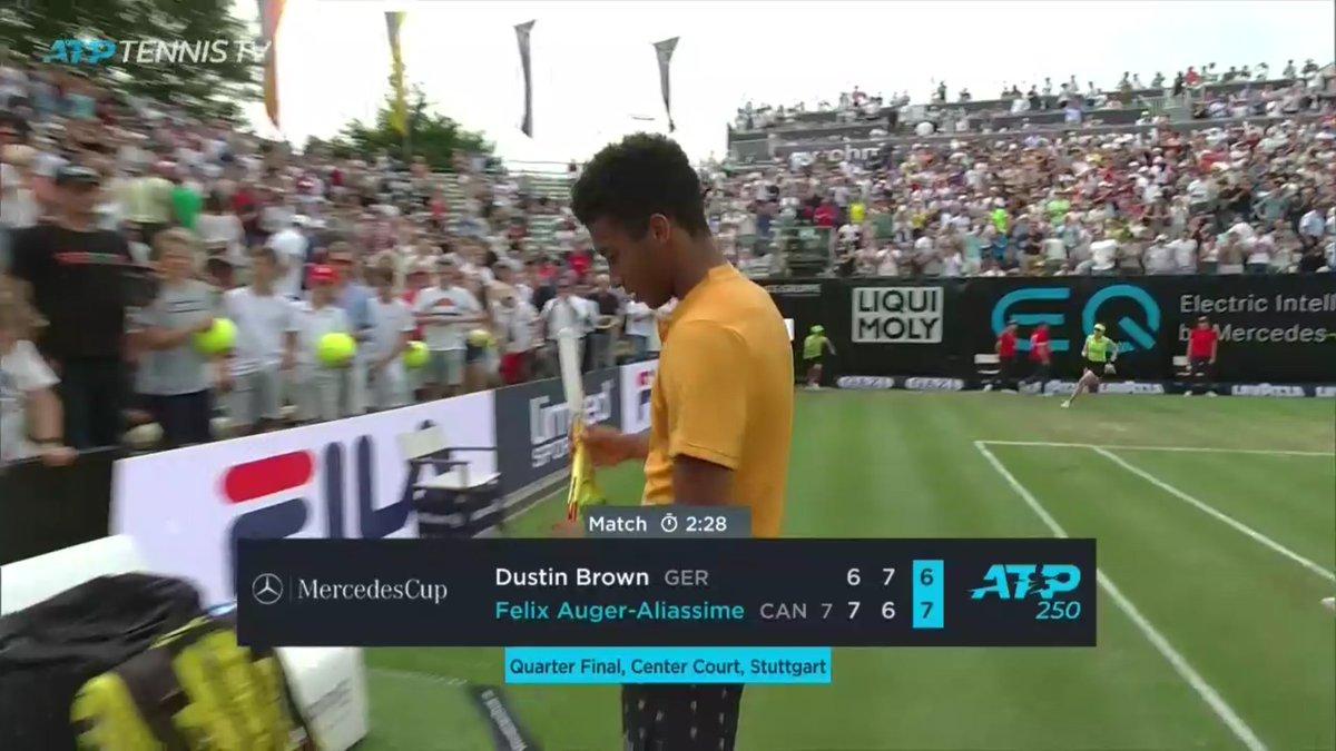Congrats @felixtennis. Gets the amazing win down matchpoint vs @DreddyTennis #ATPTour #Stuttgart<br>http://pic.twitter.com/x8QfpWGDT0
