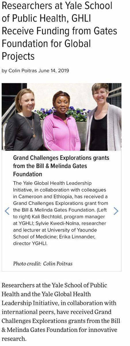 Media Tweets by Yale Global Health Leadership Initiative