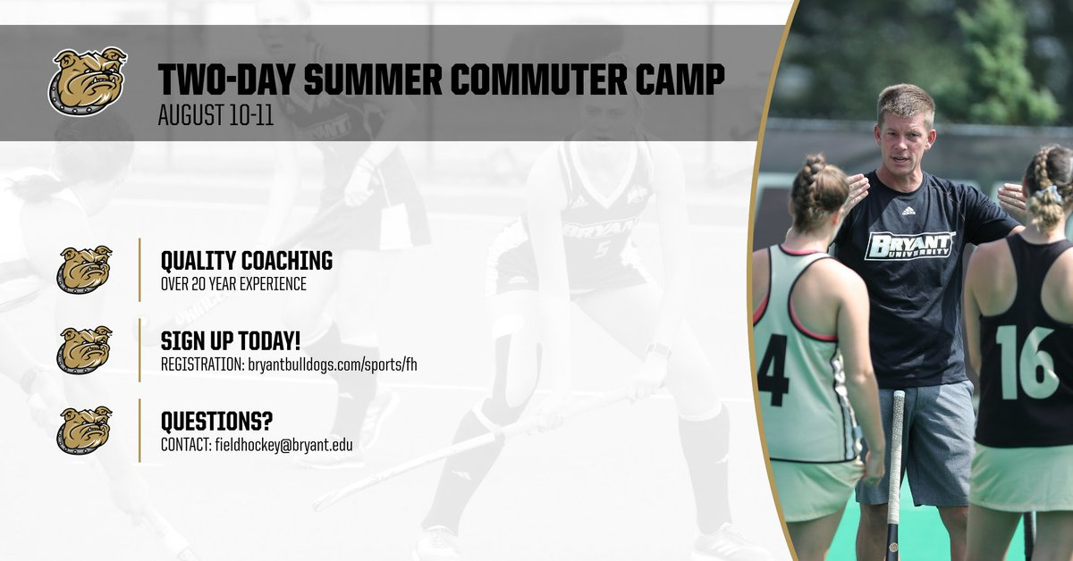Be sure to sign up today for our Two-Day Summer Commuter Camp this August!  http://bit.ly/FH-Summer-Camp  #GoBryant