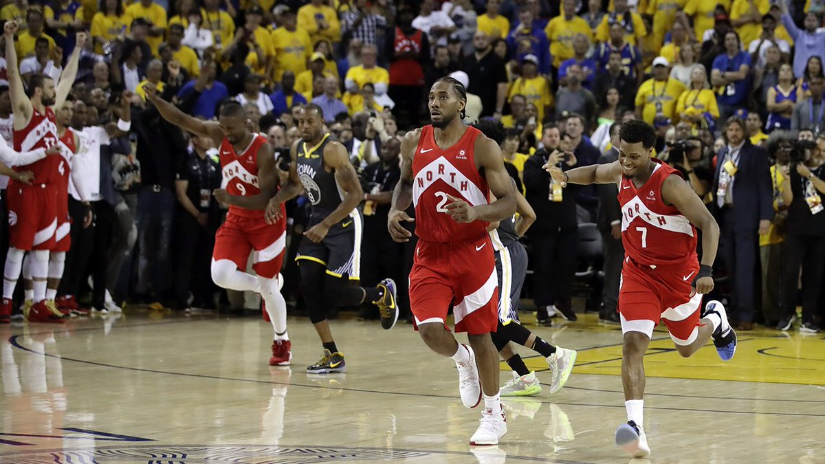 The road team wins 5 straight games of the #NBAFinals for the first time ever. #WeTheNorth