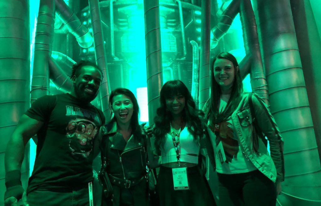 AVALANCHE here! This crew got to play the Final Fantasy Remake and there was so much joyful shouting and crying! #FF7R