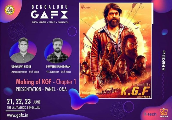 Bengaluru GAFX Arranging a Season About The Making Of #KGF...!! There Will Be a Preparation Panel Discussion Followed Q-A Season About KGF..❤
