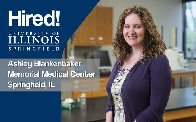 Hired! #UISedu Clinical Laboratory Science alum Ashley Blankenbaker graduated with a job! She's now working as a medical laboratory scientist at Memorial Medical Center in Springfield. Congratulations! @ChooseMemorial  ➡️ Apply to UIS today: https://t.co/PcJiGo3xWP https://t.co/kIDA0gBkcb