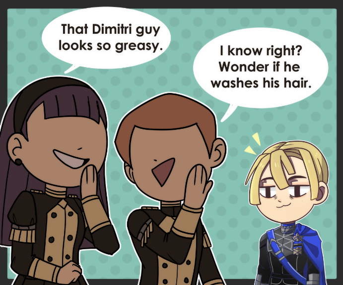 RT @TerrifiedMouse: Dimitri's villain origin story.  Legit though what made him finally snap? #FireEmblemThreeHouses https://t.co/0E5AQgz6dT
