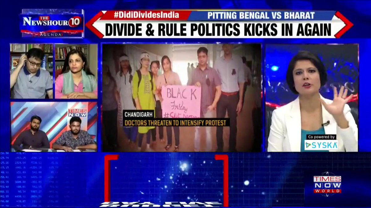 #DidiDividesIndia   West Bengal CM Mamata Banerjee witnessing patients in pain could have turned her angry: Prof. Monojit Mondal, Political Analyst on @thenewshour Agenda with @PadmajaJoshi.