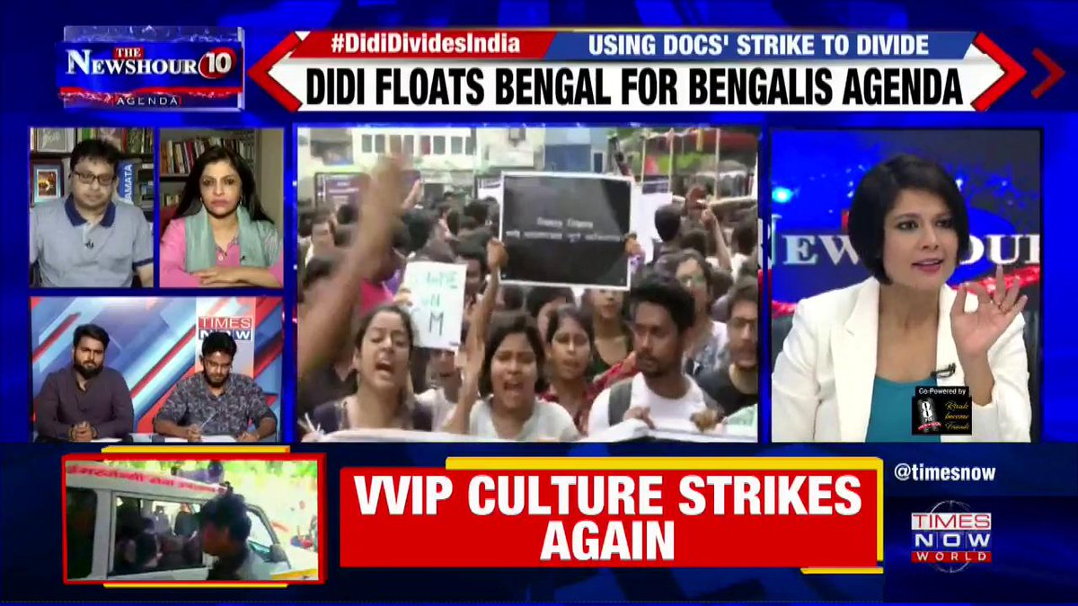 #DidiDividesIndia   The incident happened in NRS Medical College but she (Mamata) visited SSKM Medical College: Dr. Ayush Arun MBBS Final Year Student, Medical College Kolkata on @thenewshour Agenda with @PadmajaJoshi.