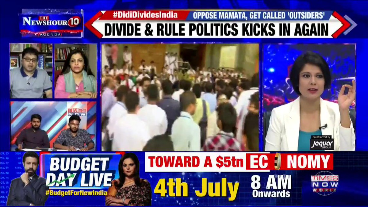 #DidiDividesIndia   Our paramount issue should be to take care of people suffering: Prof. Monojit Mondal, Political Analyst on @thenewshour Agenda with @PadmajaJoshi.