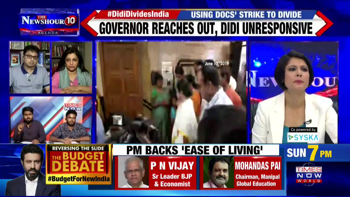 #DidiDividesIndia   We are ready to serve but security is must: Dr. Ayush Arun MBBS Final Year Student, Medical College Kolkata on @thenewshour Agenda with @PadmajaJoshi.