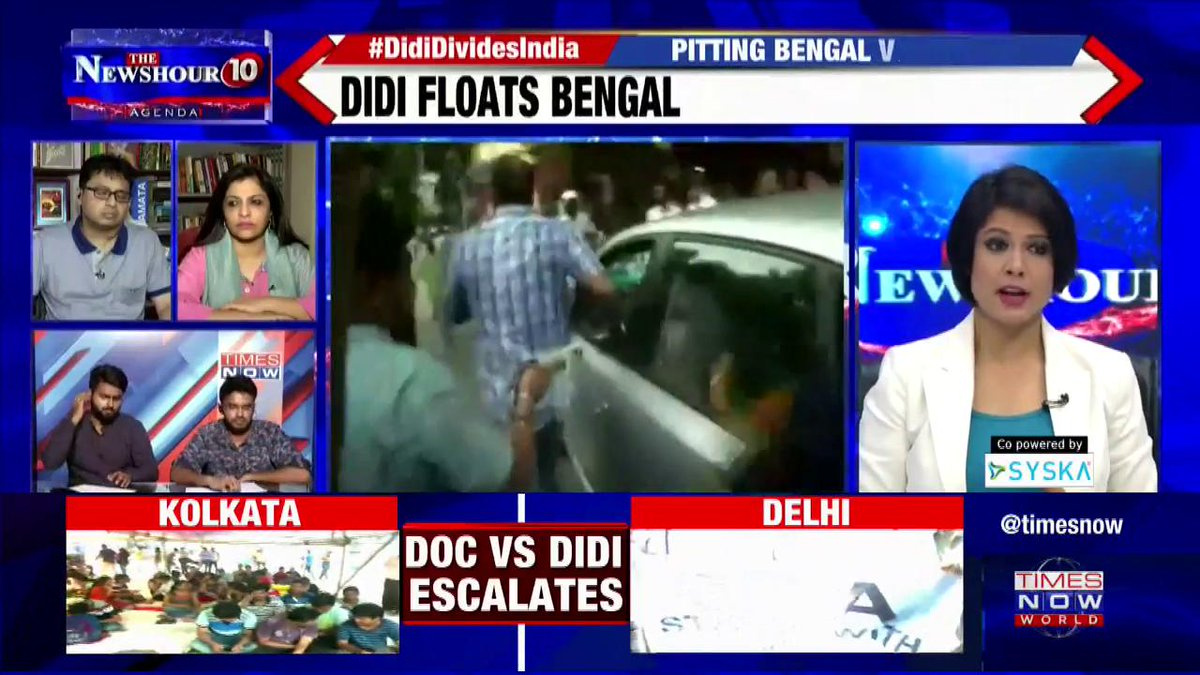 #DidiDividesIndia   BJP's Mukul Roy started talking on communal lines: Prof. Monojit Mondal, Political Analyst on @thenewshour Agenda with @PadmajaJoshi.