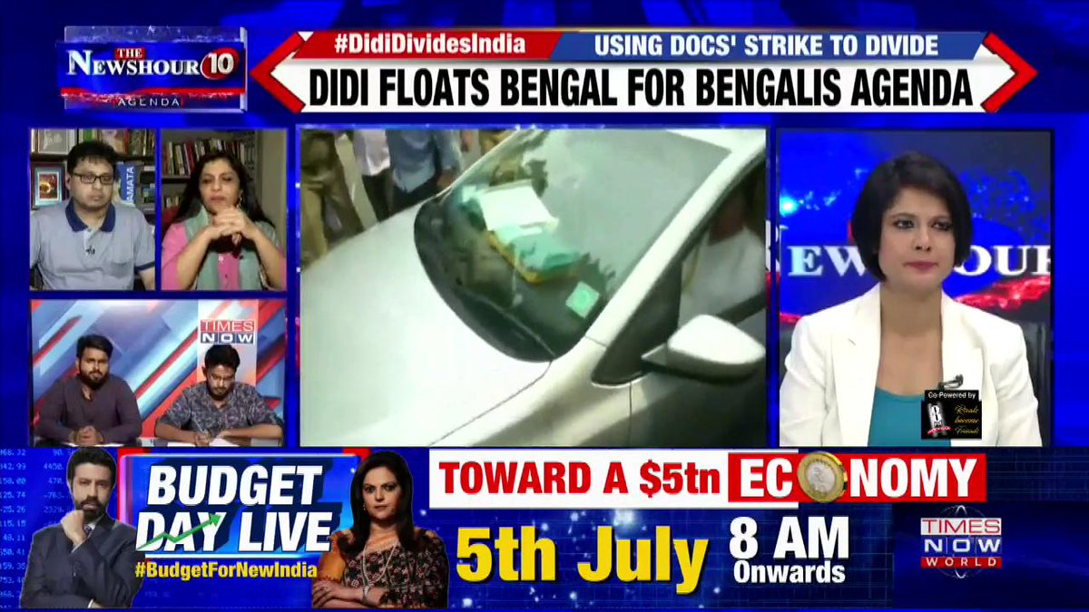 #DidiDividesIndia   Mamata Banerjee is paranoid and conducted herself in the shabbiest of manners: @shaziailmi, BJP Spokesperson on @thenewshour Agenda with @PadmajaJoshi.