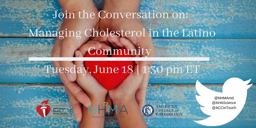 Save the date: Tuesday, June 18th, 1:30-2:30 pm ET  Join us , the American Heart Association and the American College of Cardiology as we discuss the new guidelines and recommendations for managing blood cholesterol levels. @ACCinTouch @AHAScience