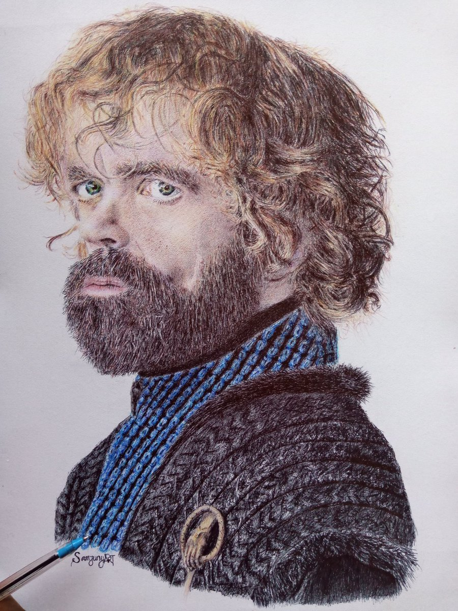 Completed drawing of @Peter_Dinklage @TyrionTheHand Kindly help retweet pls let it go viral @gangwolf360 @artmonnk @thepamilerin #gameofthrones #tyrionlannister #drawingwhileblack #Artwork #japanesemessi #burna #frieboy