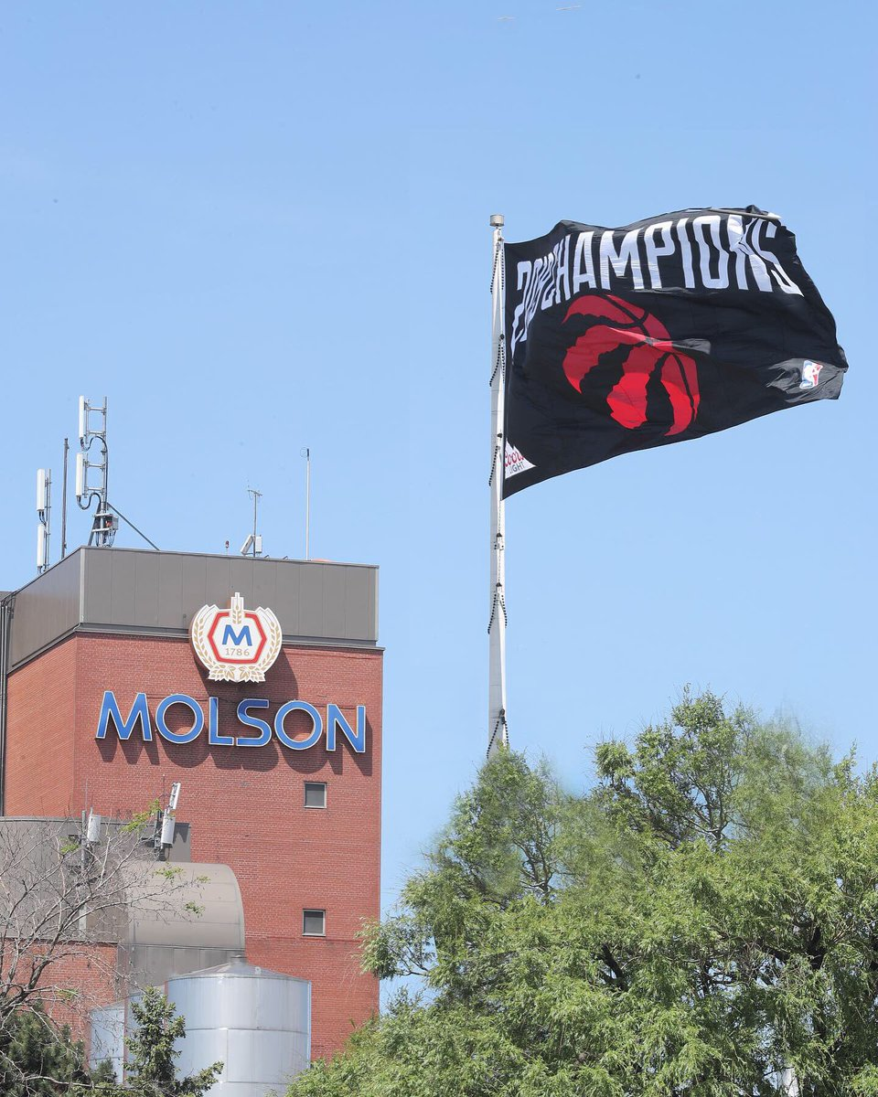 @Raptors On April 13th, 2019 we raised our #WeTheNorth flag. Today, we proudly replace it with this one. -  #2019NBAChampions @raptors https://t.co/73u3mAlhzv