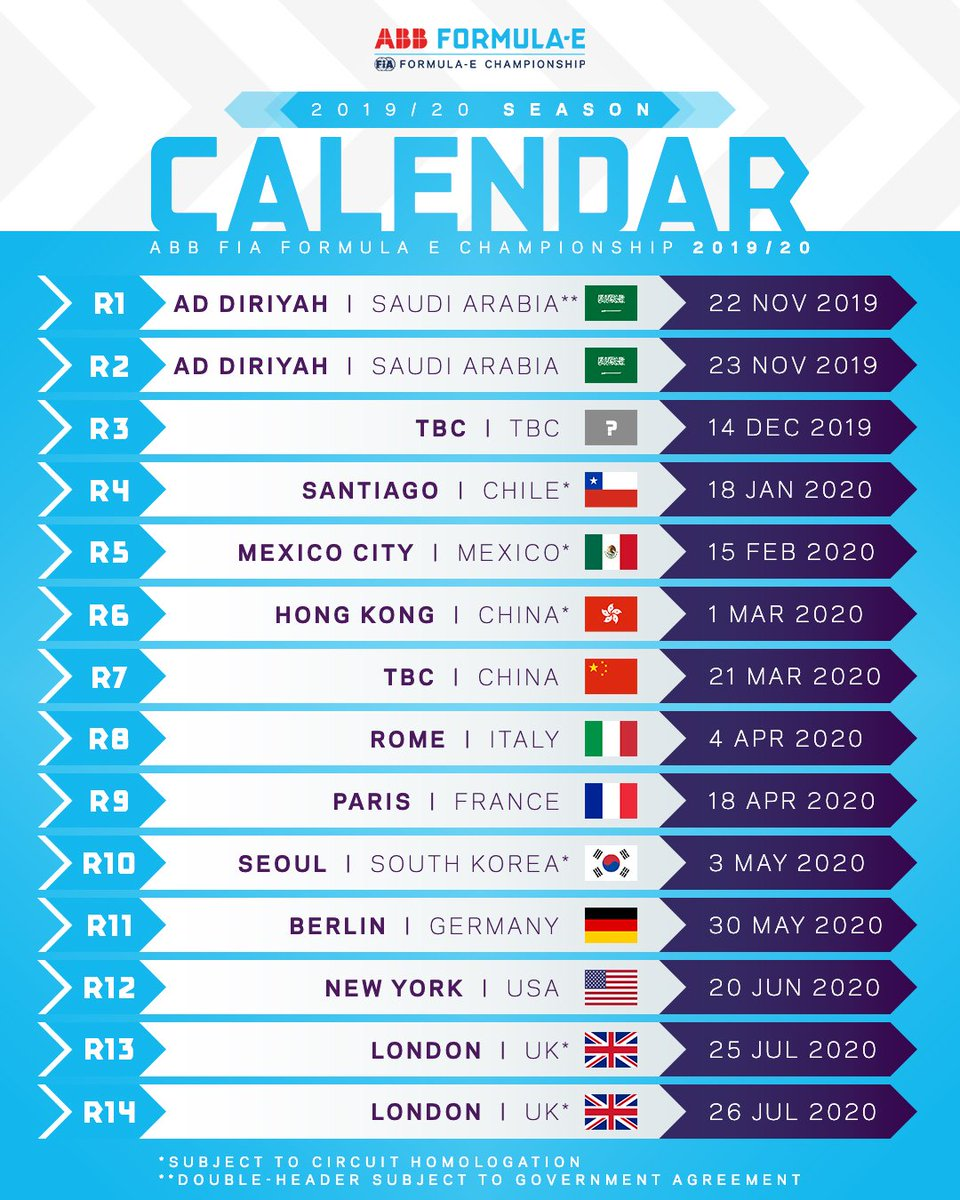 Calendario 2020 F1.Oliver Rowland Oliverrowland1 Twitter