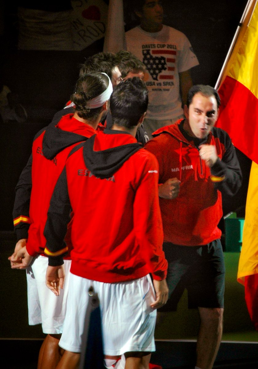 Captain Albert Costa is ready to rumble #DavisCup 🇪🇸