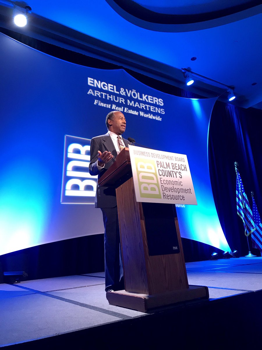 Today, I spoke to @BDBpalmbeach about how @HUDgov is utilizing public-private partnerships to spur investments in economically distressed communities through Opportunity Zones.<br>http://pic.twitter.com/cXAmlFMP4b