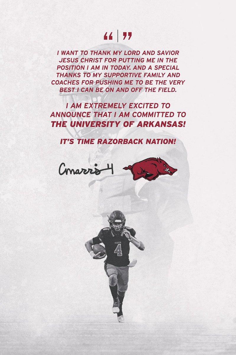 Chandler Morris, Son of Arkansas HC Chad Morris, Announces Commitment