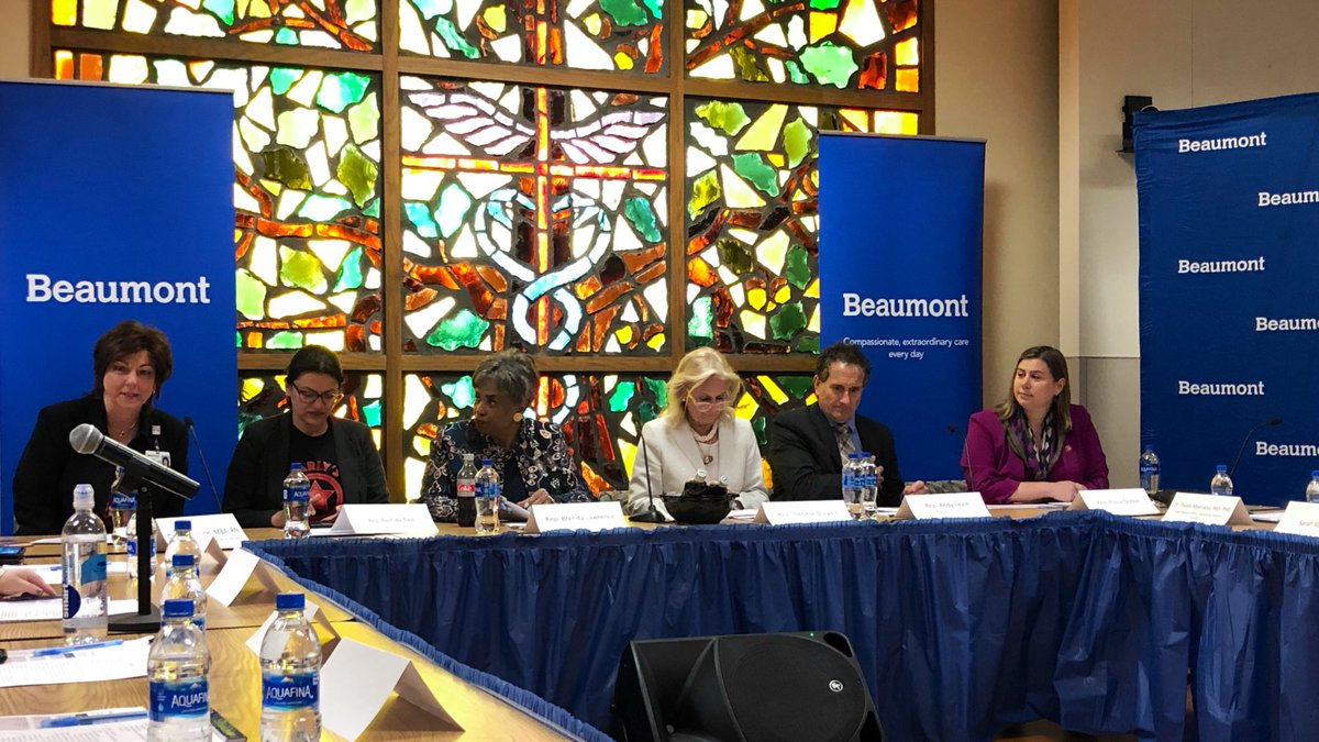 """Beaumont, Dearborn is hosting """"Healthcare for All Americans"""" with @RepDebDingell, @RepLawrence, @RepRashida, @RepSlotkin and @RepAndyLevin."""