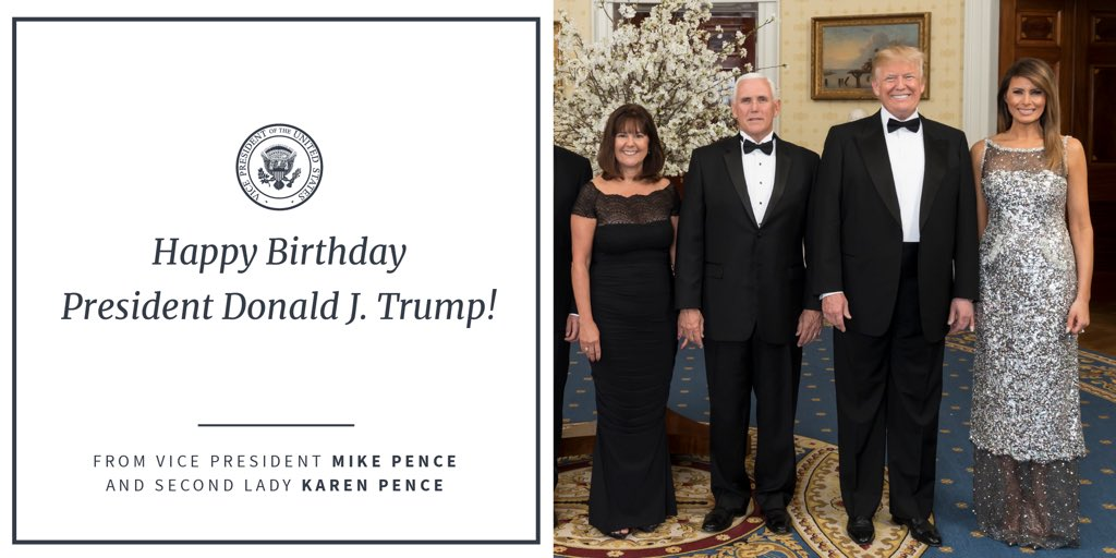 Happy Birthday to the 45th President of the United States @realDonaldTrump!