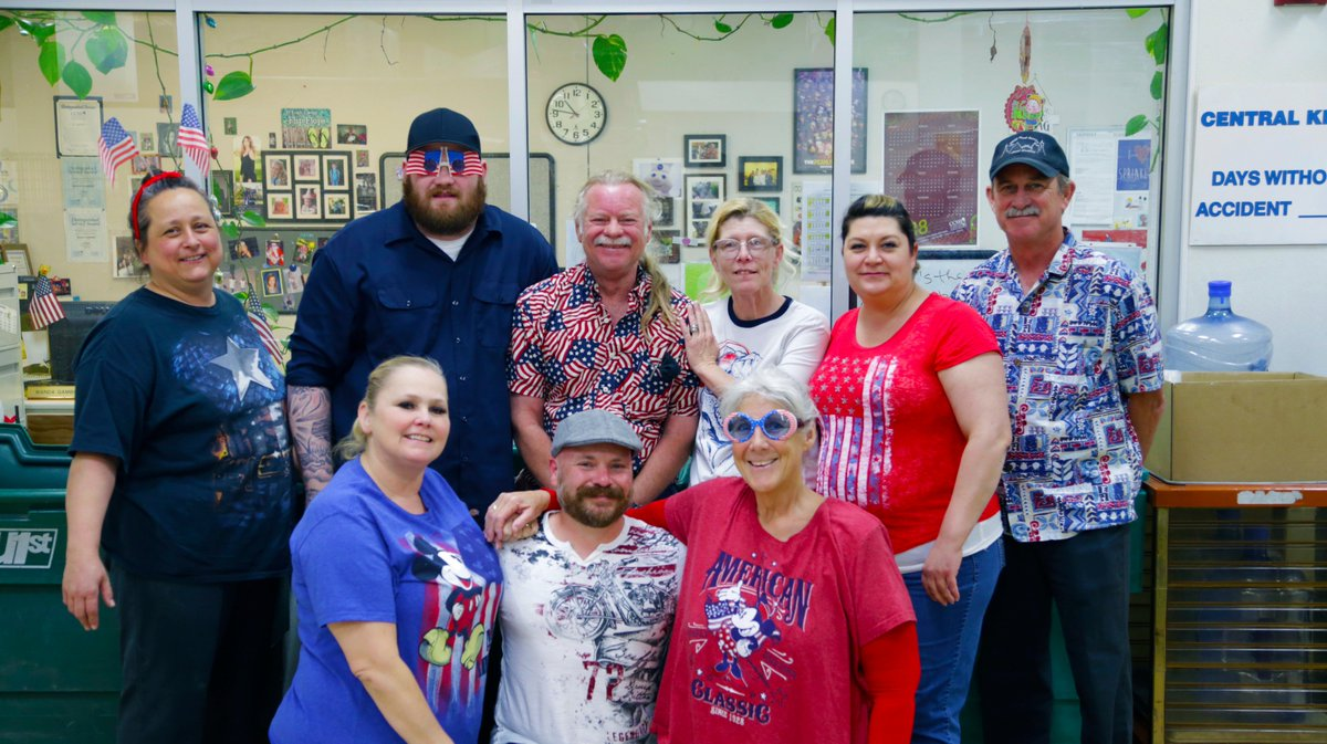 Happy flag day from your summer central kitchen staff! Visit http://ccsdfs.info/summer to find a summer site near. Enjoy the meals this team has been working hard to make all summer long!
