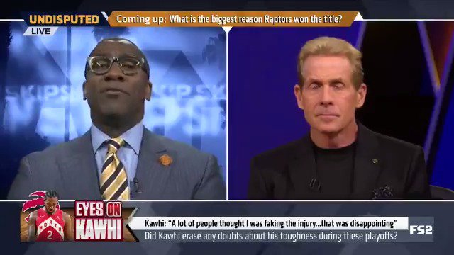 Kawhi proved he could lead a team to a championship. Hes a superstar in the same category as LeBron James and Kevin Durant. Hes of that caliber; hes cut from that cloth. — @ShannonSharpe